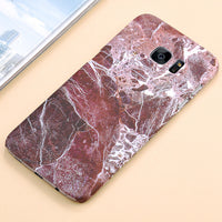 Hardcase im Marmor Look für Samsung Galaxy 7-9 brown