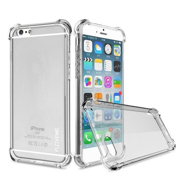 Transparentes Case für iPhone 6-X in 4 Farben