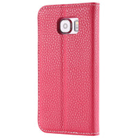 Flip Case Wallet für iPhone 6-X rose red
