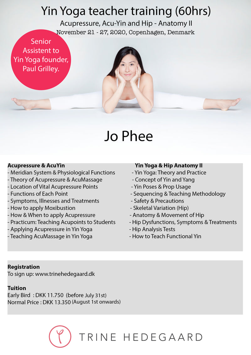 Yin Yoga Teacher Training (60hrs) with Jo Phee, November 21-27, 2020 - DEPOSIT