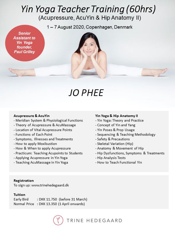 Yin Yoga Teacher Training (60hrs) with Jo Phee, August 1-7, 2020 - 2. PAYMENT