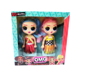 Papusi Figurine in Cutie Cadou Set 2 Buc O.M.G. LOL Surprize Let Live Together