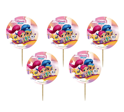 Set 16 buc Scobitori Cupcake Toppers Candy Muffin Shimmer and Shine
