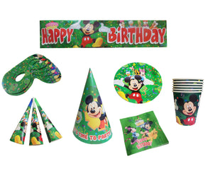 Set de Petrecere Aniversare Party Tematice Petreceri Botez Mickey Mouse Green