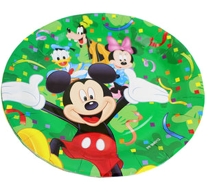 Set Farfurii Carton de Petrecere Aniversare Party Tematice Mickey Mouse Green