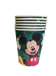 Set Pahare din Carton de Petrecere Aniversare Party Tematice Mickey Mouse Green