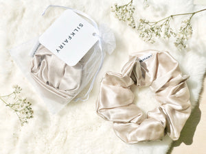 silkfairy silk scrunchie caramel