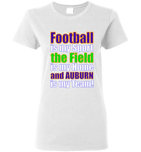 Auburn Is My Team Women Tee Shirt