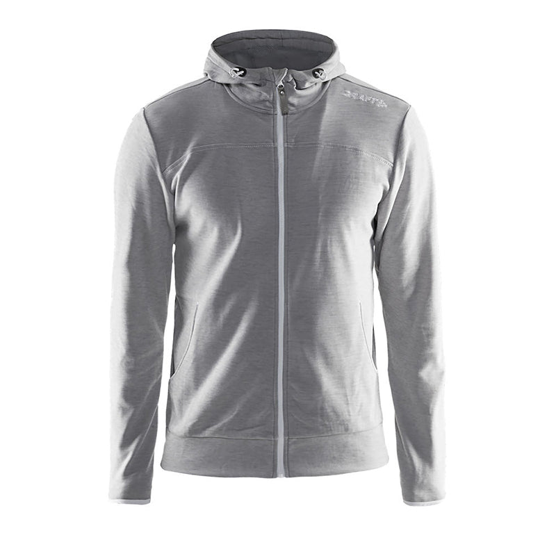 Leisure Full Zip Hood M Grey Melange