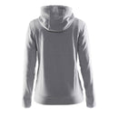 Leisure Full Zip Hood W Grey Melange