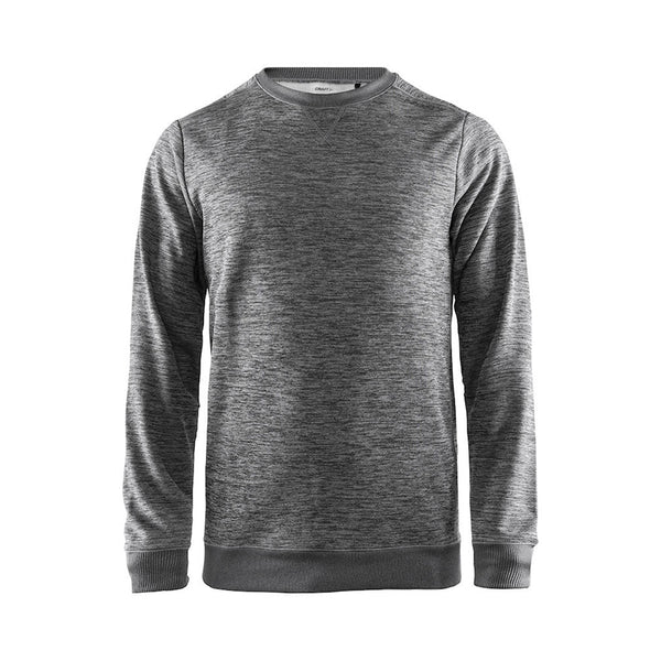 Leisure crewneck M, Dark Grey Melange