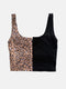 SlipOn Crop Bra Top - Leopard Print