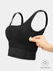 SoftTech Crop Bra Top - Black
