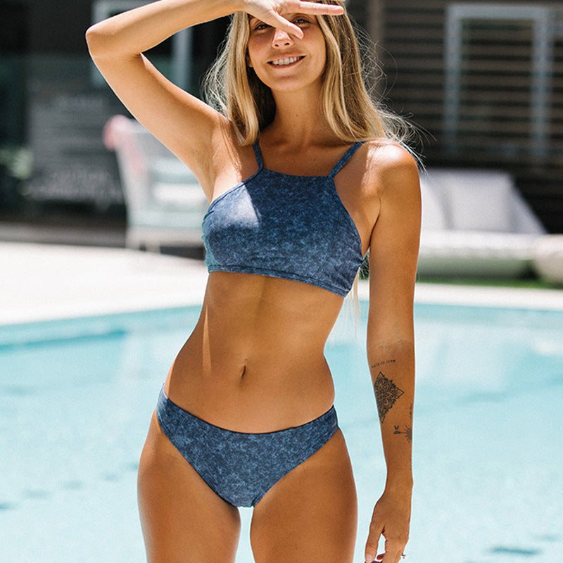 Print Low Waist Bikini Set