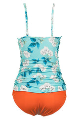 Blue Dream Flower Print Tankini Set - Chicnowa