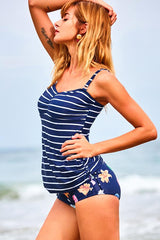 Together With Me Striped Tankini Set