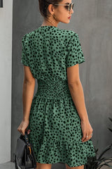 Fashion Print  Short Sleeve Casual Dress