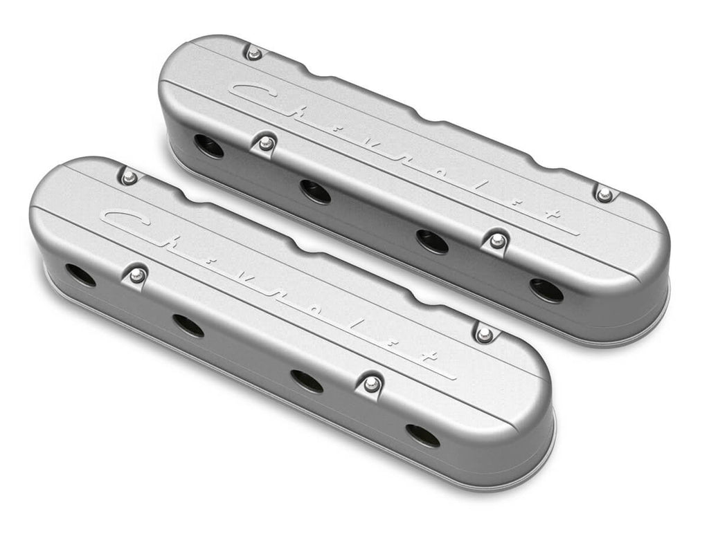 "Holley 2 Piece ""Chevrolet"" Script LS Valve Covers - Hidden Coils"