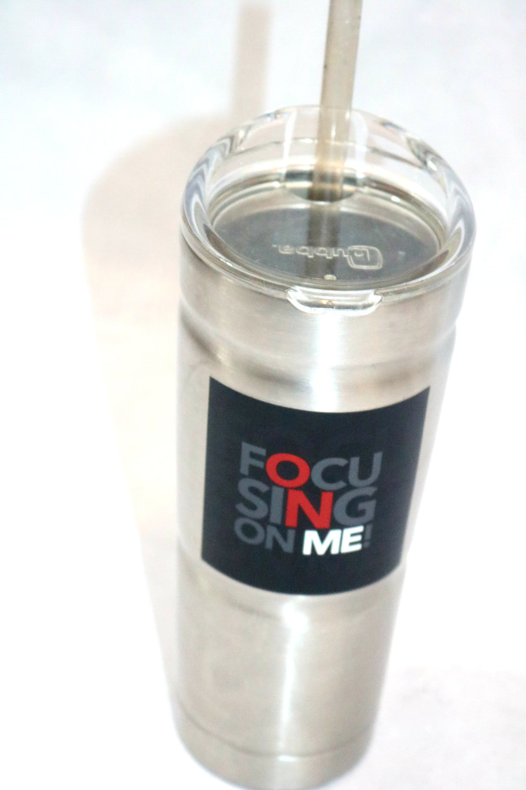 FOM - Vacuum-Insulated Stainless Steel Straw Tumbler, 24 oz. Smoke