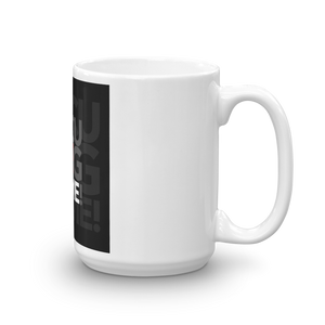 Focusing On Me Designz - Black, Red and Gray Mug