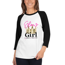 Load image into Gallery viewer, Glow Girl #PositiveVibesOnly - 3/4 sleeve raglan shirt