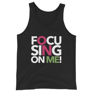Focusing On Me Designz - Unisex Tank Top - Pink & Green