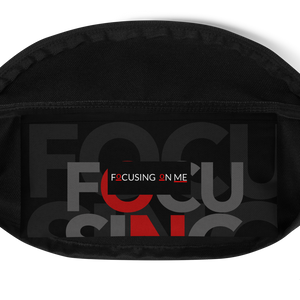 Focusing On Me Designz - Red, Grey and White Fanny Pack
