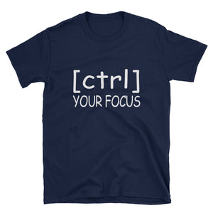 [ctrl] Your Focus Tee (Black or Navy)