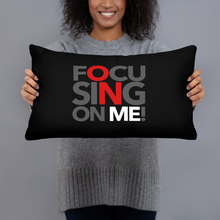 Load image into Gallery viewer, Focusing On Me Designz - Red Black and White Basic Pillow