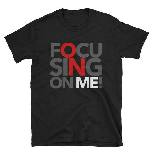 Focusing On Me Designz T-Shirt - Red, White & Grey