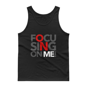Focusing On Me Designz - Cotton Jersey Knit Tank Top - Red, White & Grey