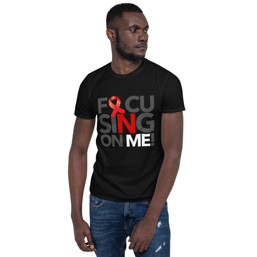 Focusing On Me Designz T-Shirt - Red & White - Heart Disease Awareness Support Tee