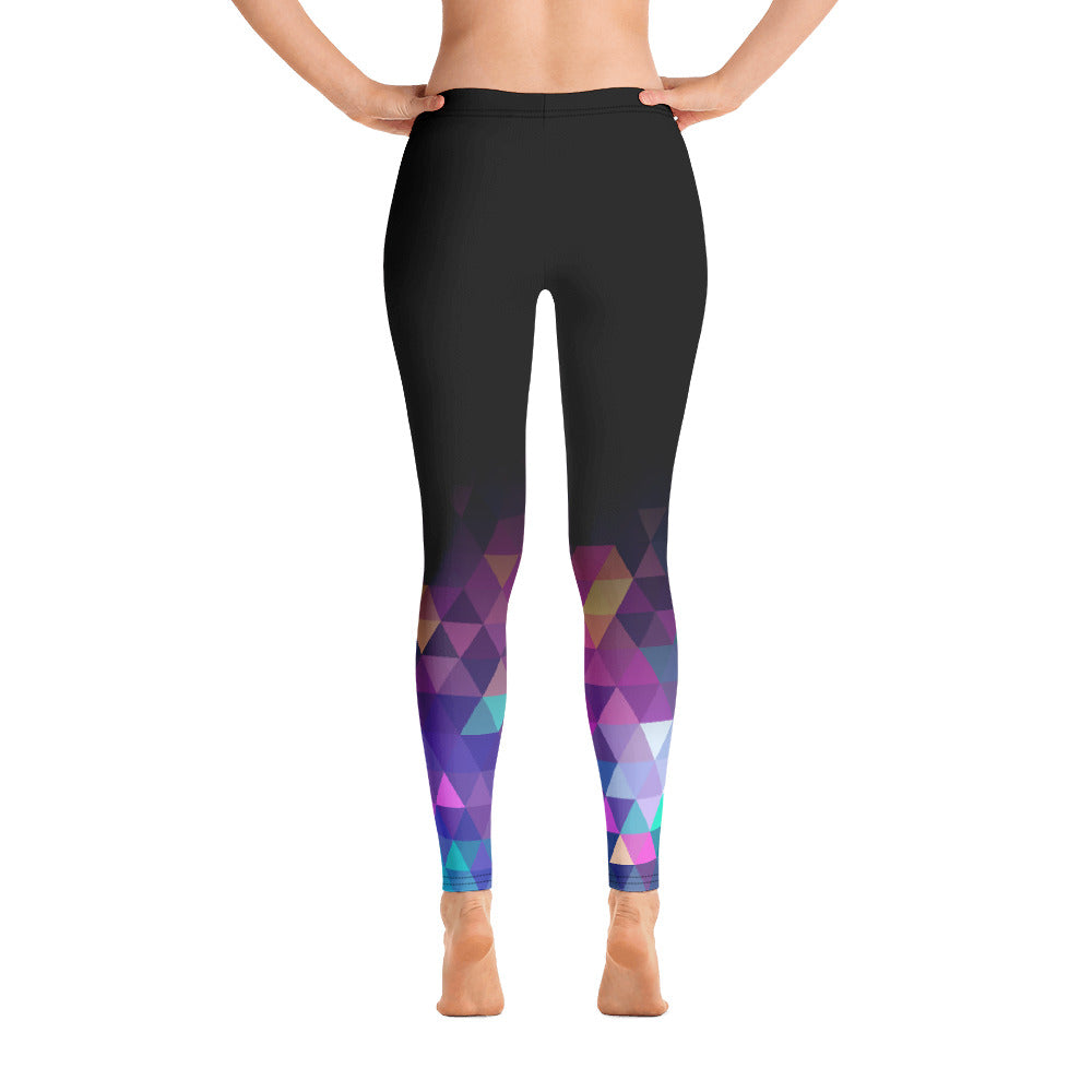 Women Geo Shape Colored Leggings