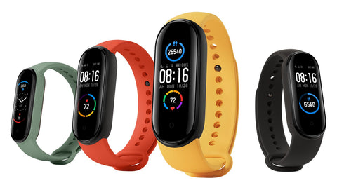 Cayyogo my band smart band colors mi band colors black, blue, pink, red