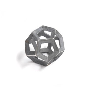 Plutonic Solids Necklace - Oxidised Silver - 12 sides / Dodecahedron
