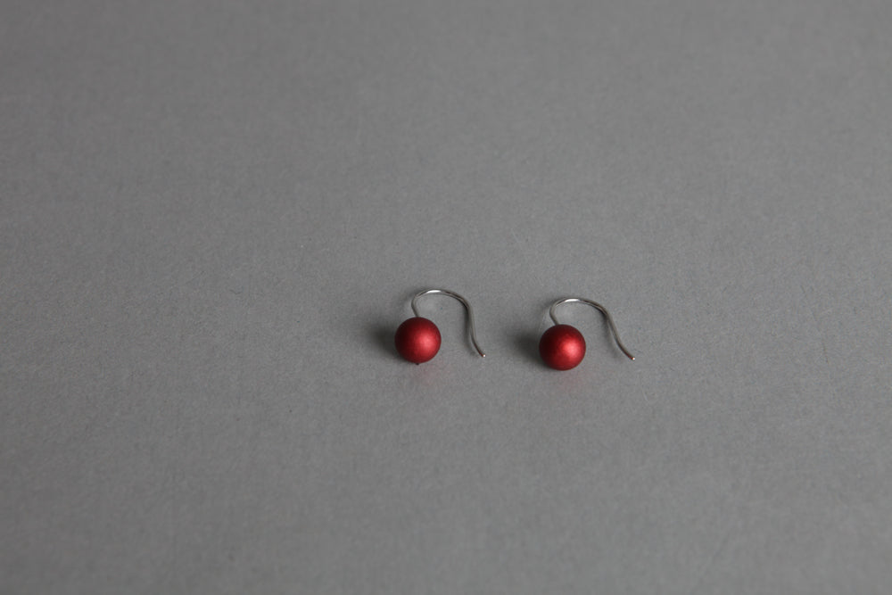 Ball Red Earrings
