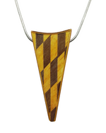 Geometric Wood Necklace - Check