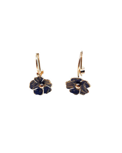 Blossom Drop Earrings - indigo