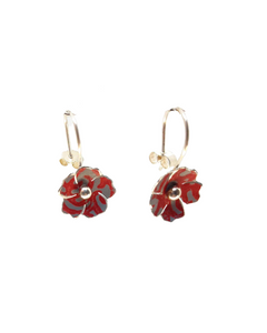 Blossom Drop Earrings - red