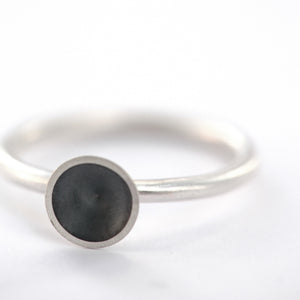 Oxidised Silver Cone Ring