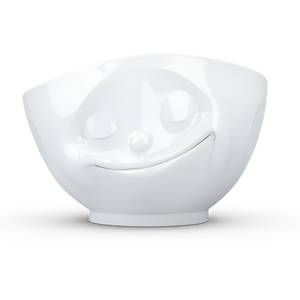 Bowl 500ml White 'Happy'