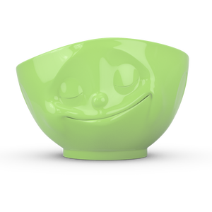 Bowl 500ml Coloured Green 'Happy'