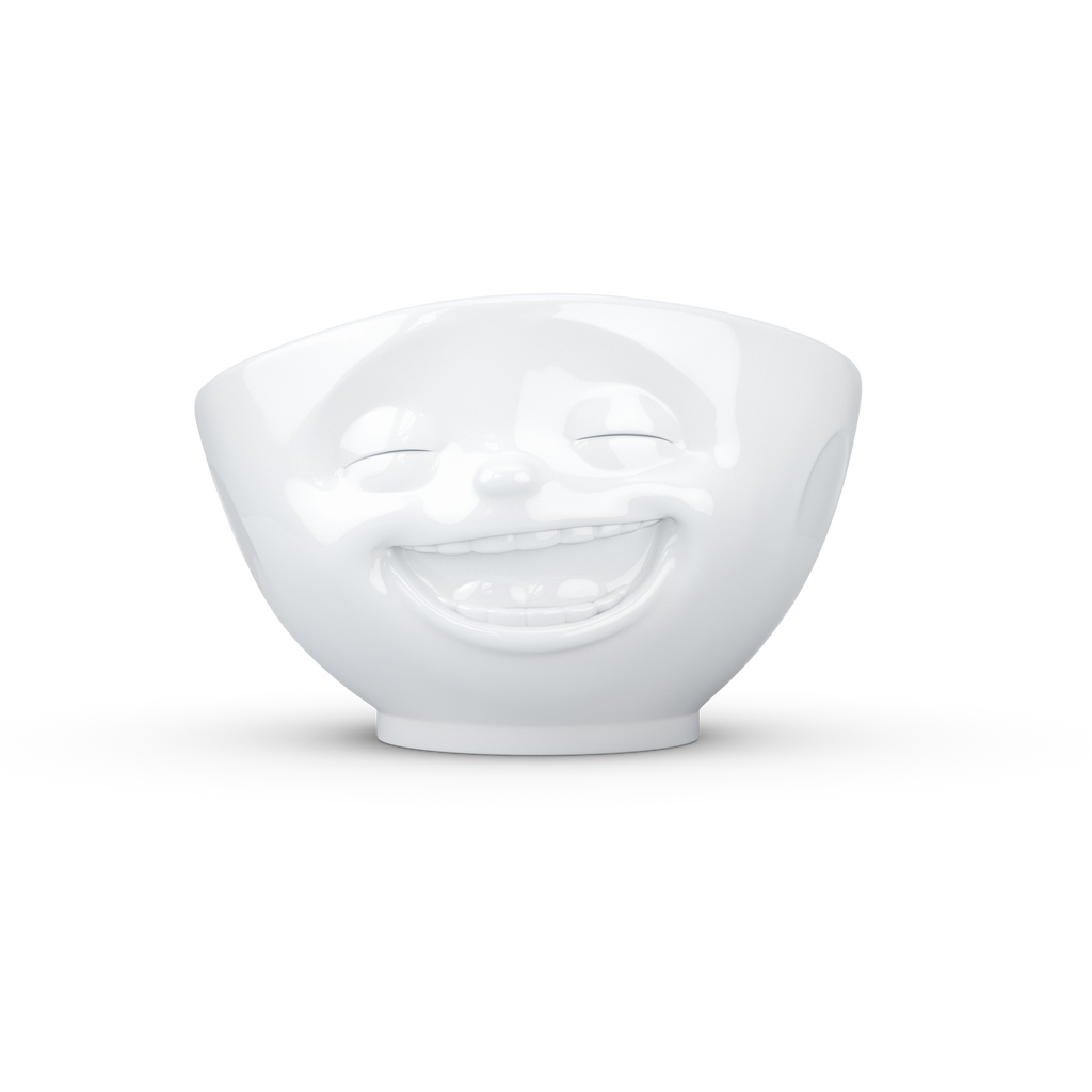 Bowl 500ml White 'Laughing'