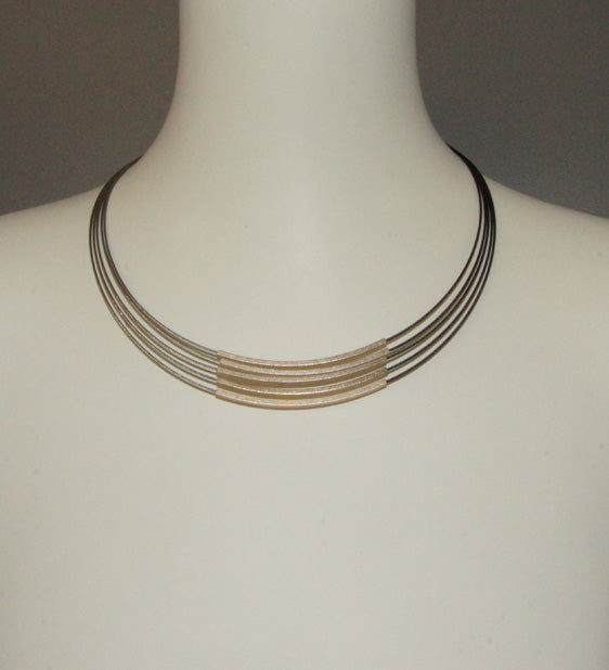 Lines Multi Gold Necklace