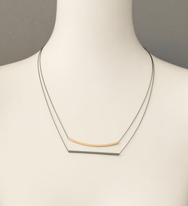 Lines Gold and Grey Necklace