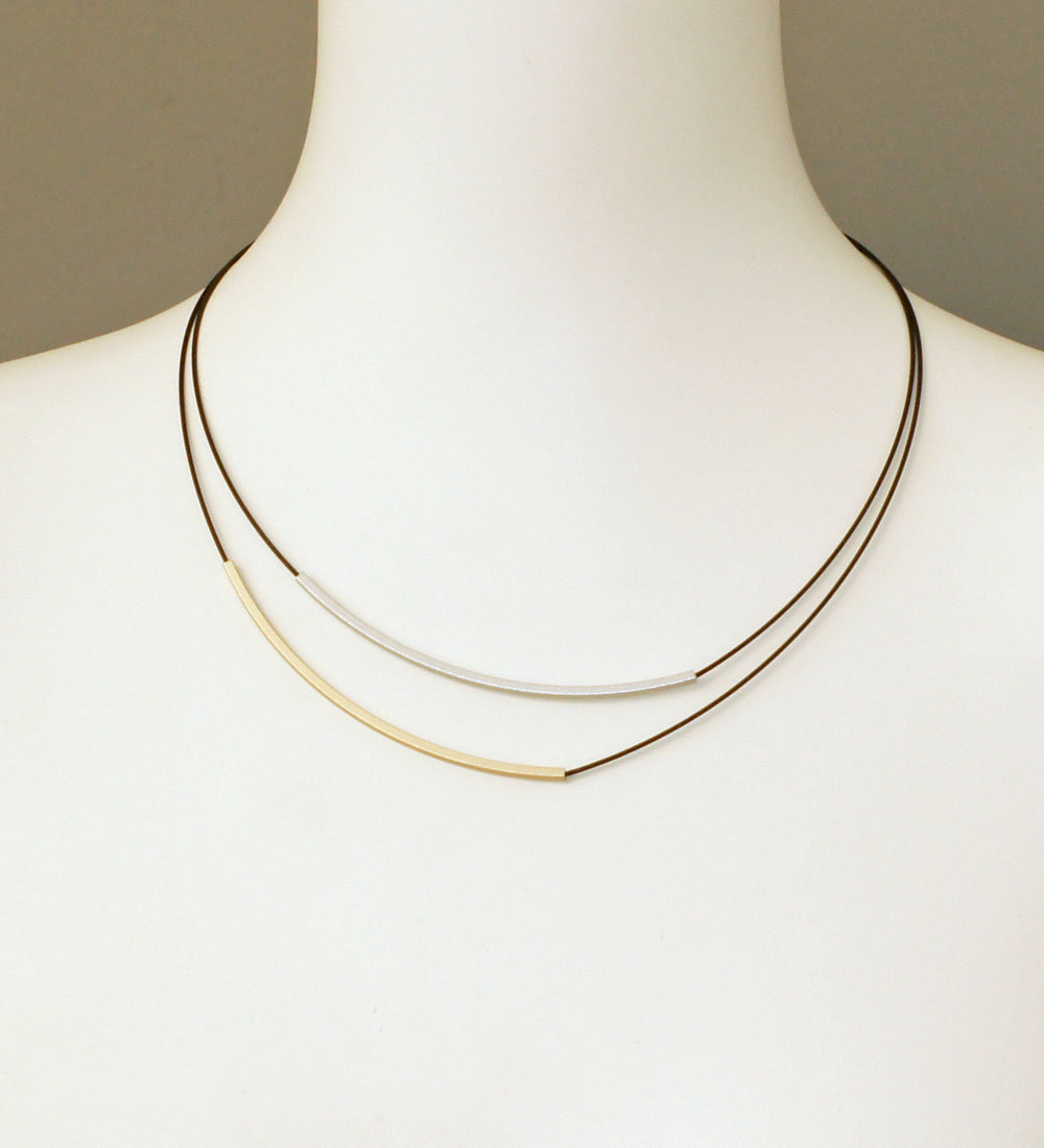 Line x2 Long Necklace