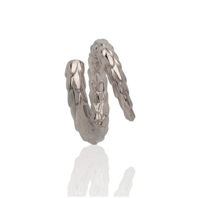 Viper Tail Ring Silver