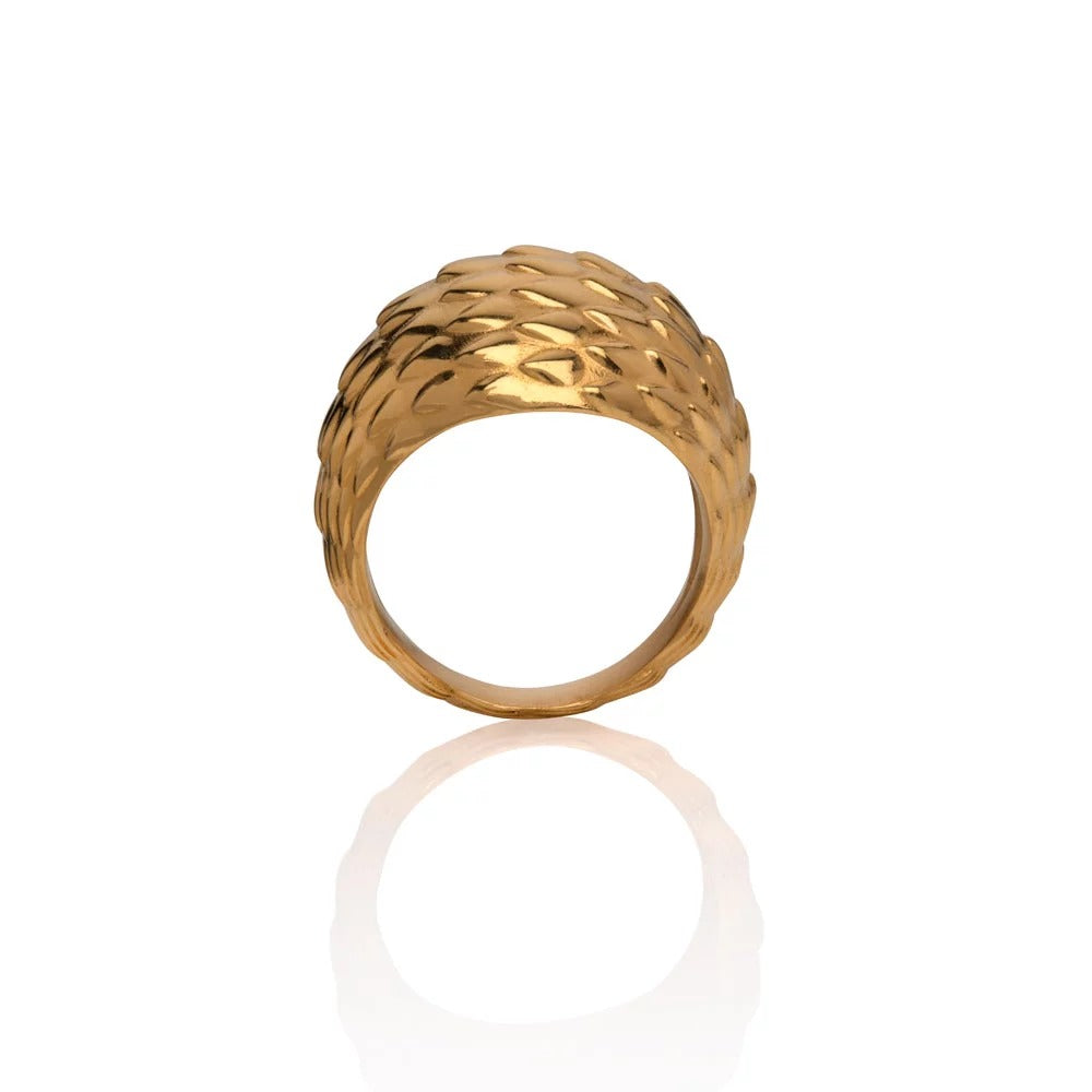 Viper Bombe Ring Gold