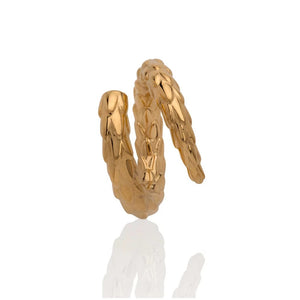 Viper Tail Ring Gold