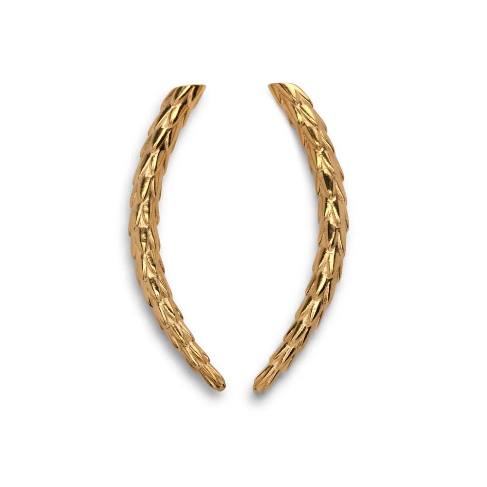Viper Earrings Gold - Small